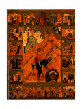 The Beheading of Saint John the Baptist With the Feodorovskaya Mother of God Giclee Print