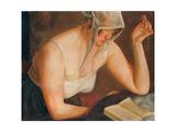 Woman Reading Giclee Print by Boris Dmitryevich Grigoriev