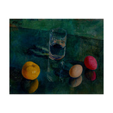 Still Life Against a Green Background Giclee Print by Kuzma Sergeyevich Petrov-Vodkin