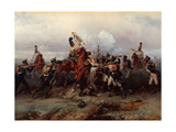 The Exploit of the Mounted Regiment in the Battle of Austerlitz Giclee Print
