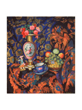 Still Life With Porcelain And Flowers Giclee Print by Nikolai Semyonovich Zaytsev