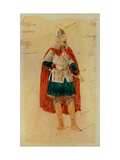 Costume Design for the Opera Prince Igor A. Borodin Giclee Print by Evgeni Petrovich Ponomarev