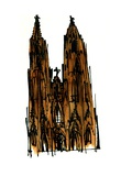 Cologne Cathedral, 1966, ink drawing, Giclee Print