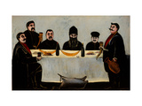 Six Princes (Feast) Giclee Print by Niko Pirosmani