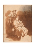 A Young Woman Having Her Hair Braided Giclee Print by  Rembrandt van Rijn