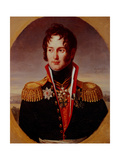 Portrait of Pyotr Alexandrovich Chicherin (1778-1848) Giclee Print by Robert Lefevre