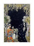 Harlequin And Death Giclee Print by Konstantin Andreyevich Somov