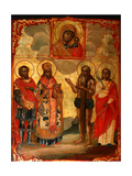 The Selected Saints Before the Icon of Our Lady of Kazan Giclee Print by Evfimy Denisov