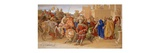 The Knights of the Round Table About to Depart in Quest of the Holy Grail Giclee Print