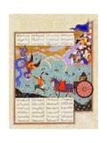 Esfandiyar Murders Simurgh (Manuscript Illumination From the Epic Shahname Giclee Print