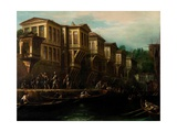 Said Pasha Waterfront Mansion Giclee Print by Megerdich Jivanian