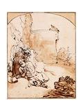 The Prophet Jonah Before the Walls of Nineveh Giclee Print by  Rembrandt van Rijn