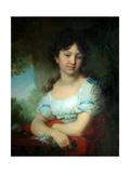 Portrait of Countess Maria Alexeyevna Orlova-Denisova Giclee Print by Vladimir Lukich Borovikovsky