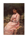 In a Park. (Portrait of the Artist's Wife) Giclee Print by Nikolai Alexandrovich Yaroshenko