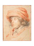 Rubens's Son Nicolaas Wearing a Red Felt Cap Giclee Print by Pieter Paul Rubens