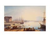 Sunrise Over the Neva in St. Petersburg Giclee Print by Maxim Nikiphorovich Vorobyev