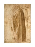 Three Standing Men in Wide Cloaks Turned to the Left Giclee Print by  Michelangelo Buonarroti
