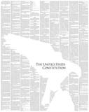 The United States Constitution Full Book text Poster Foto