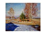 Spring Landscape Giclee Print by Sergei Arsenyevich Vinogradov