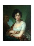 Portrait of Varvara Monycharova (Arapetova unknown) Giclee Print by Vladimir Lukich Borovikovsky