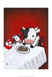 Revenge is a Dish (Cow) Posters af Luke Chueh