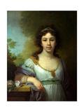 Portrait of Varvara Shidlovskaya Giclee Print by Vladimir Lukich Borovikovsky