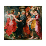 The Flight of Lot And His Family From Sodom (after Rubens) Giclee Print by Jacob Jordaens