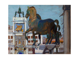 The Horses of San Marco Giclee Print by Boris Michaylovich Kustodiev