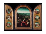 Rest on the Flight Into Egypt (Triptych) Giclee Print by Follower of  Joachim Patinir