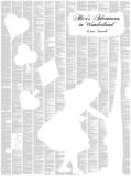 Alice's Adventures in Wonderland By Lewis Carroll Full Book text Poster Photo