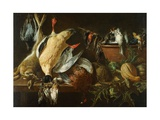 Still Life With Games And Vegetables Giclée-Druck von Adriaen van Utrecht
