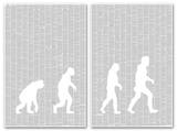 Origin of Species Ascent of Man By Charles Darwin (2 sheet set) Full Book text Poster Affiches