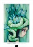 The Purple Tear Girl Plakater af Camilla D'Errico