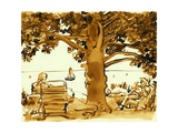 Picnic on the Maine Coast, 1975, ink drawing Giclee Print