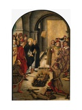 The Disputation Between Saint Dominic And the Albigensians Giclée-tryk af Pedro Berruguete