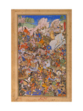 The Battle Preceding the Capture of the Fort At Bundi, Rajasthan, in 1577 Giclee Print