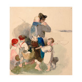Children on Their Way to Work in the Fields Giclee Print by Peter Fendi