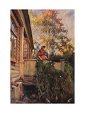 On the Balcony Giclee Print by Matvei Markovich Zaytsev