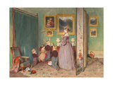 The Evening Prayer (Archduchess Sophie With Children) Giclee Print by Peter Fendi