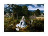 Rest on the Flight Into Egypt Giclee Print by Joachim Patinir
