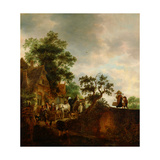 Travellers Halting At An Inn Giclee Print by Isaac Van Ostade