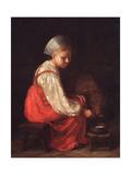 A Peasant Girl With a Calf Giclee Print by Alexei Gavrilovich Venetsianov