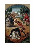 The Death of Saint Peter of Verona Giclee Print by Pedro Berruguete