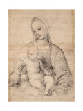Madonna With the Pomegranate Impression giclée par  Raphael