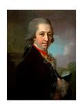 Portrait of Ivan Mikhailovich Yakovlev Giclee Print by Vladimir Lukich Borovikovsky