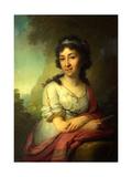 Portrait of Yekaterina Vasilyevna Torsukova Giclee Print by Vladimir Lukich Borovikovsky