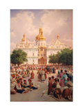 Before the Kiev Monastery of the Caves Giclee Print by Vasili Petrovich Vereshchagin