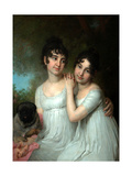 Portrait of Countesses E.A. And A.A. Kurakin Giclee Print by Vladimir Lukich Borovikovsky