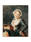 The Girl With the Marmot Reproduction procédé giclée par Jean Honore Fragonard
