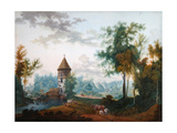 Mill And Pil Tower in Pavlovsk Park Giclee Print by Semyon Fyodorovich Shchedrin